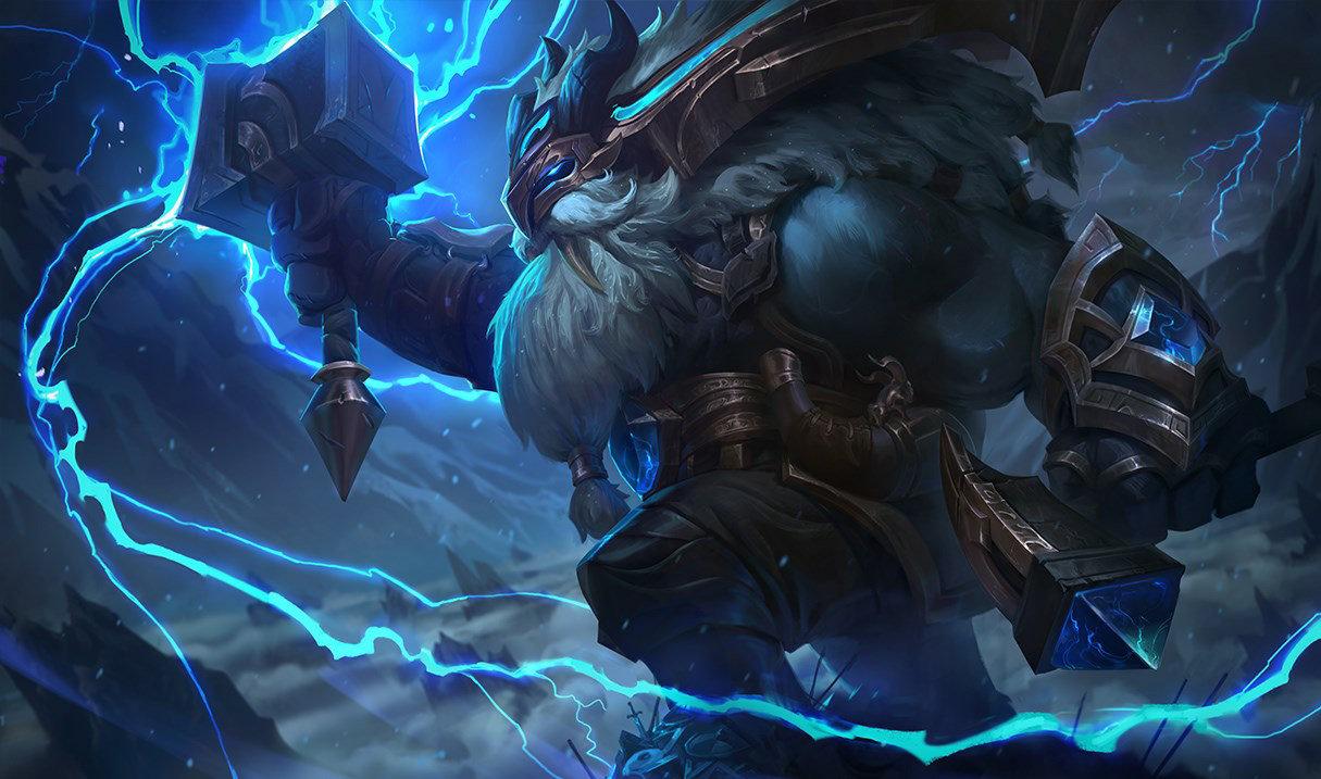 splash art thunder lord ornn