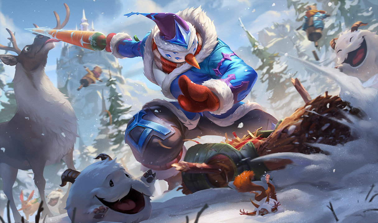 splash art snow man yi