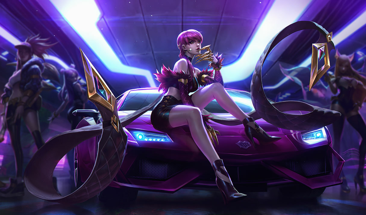 splash art kda evelynn