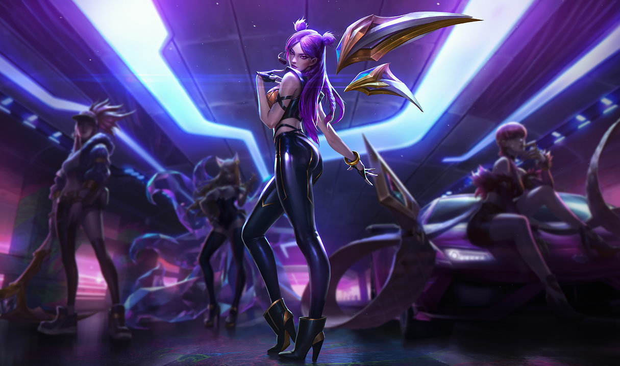 splash art k/da kai'sa