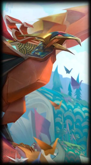 loading screen papercraft anivia