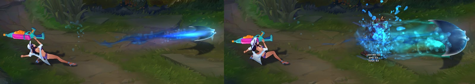 pool party caitlyn skin spell animation
