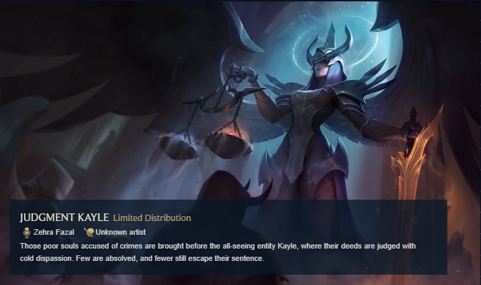 Judgement Kayle Rare Skin League of Legends