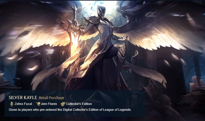Silver Kayle Rare Skin League of Legends