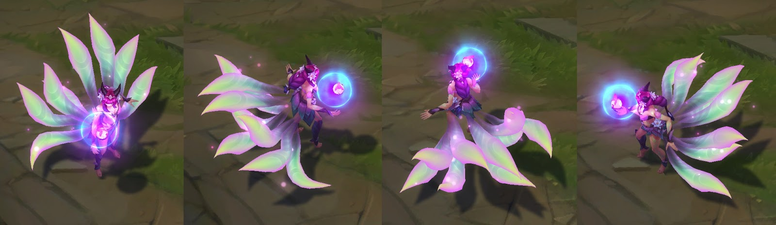 elderwood ahri skin for league of legends ingame picture