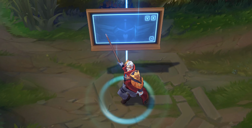 Battle Professor Graves skin recall animation