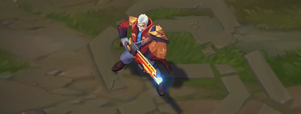 Battle Professor Graves skin for league of legends ingame picture