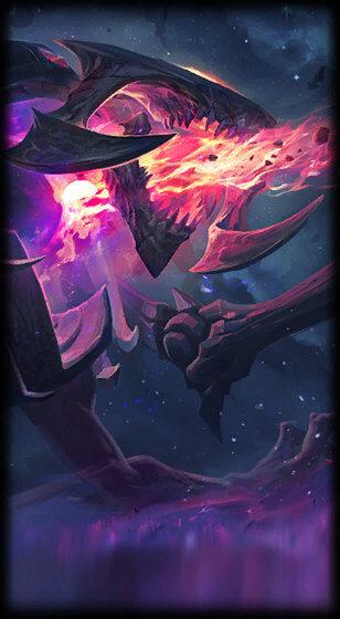 Dark Star chogath loading screen, prehistoric chogath splash art