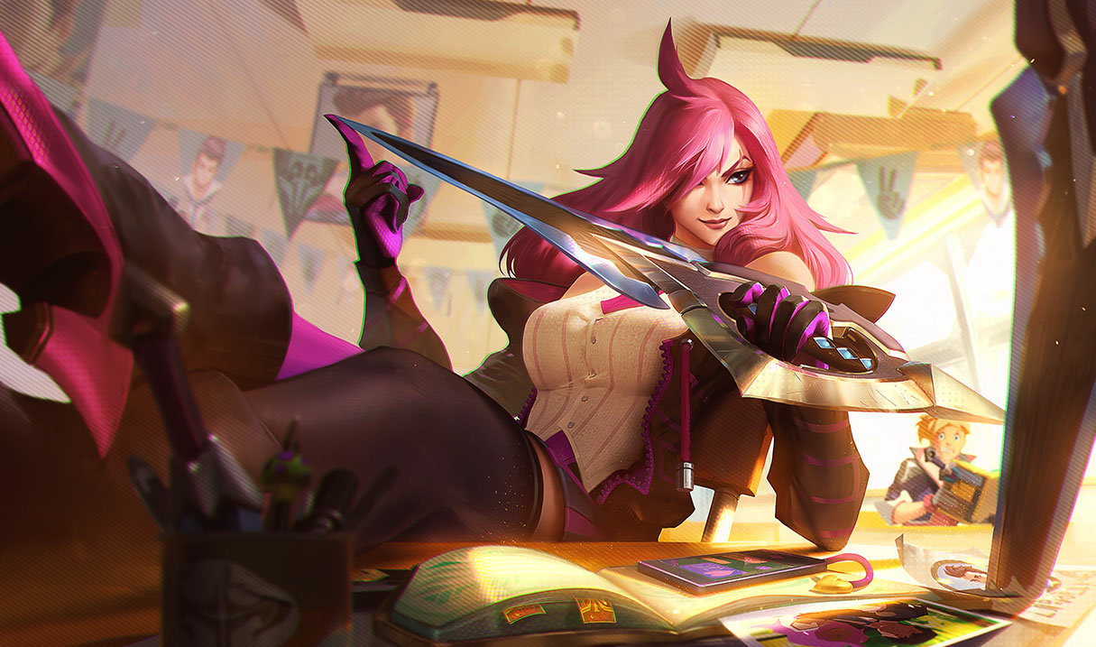 splash art battle academia katarina