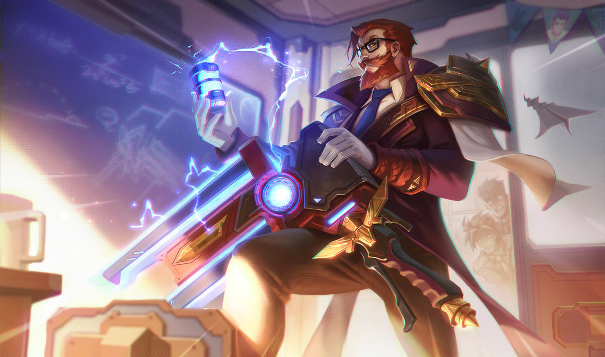 splash art for Battle Professor Graves