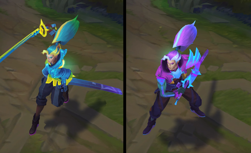 Battle Boss yasuo chroma skin pack for league of legends ingame picture