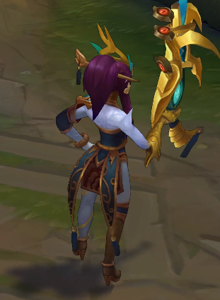 Lunar Wraith Caitlyn chroma skin  pack for league of legends ingame picture
