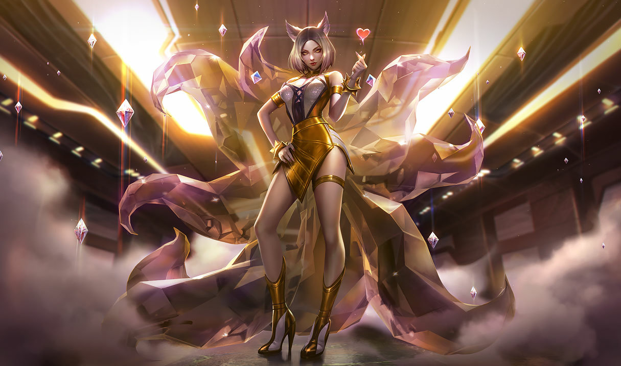 splash art kda ahri prestige edition