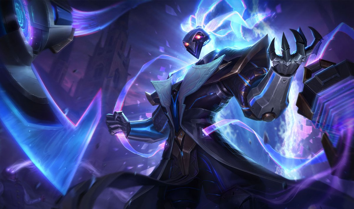Splash art pulsefire thresh