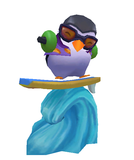 Wipeout Pengu Ward skin for league of legends
