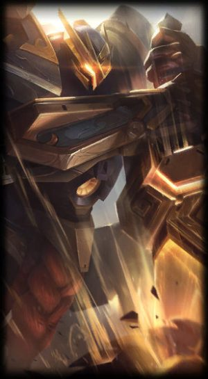 loading screen mecha kingdoms garen prestige edition