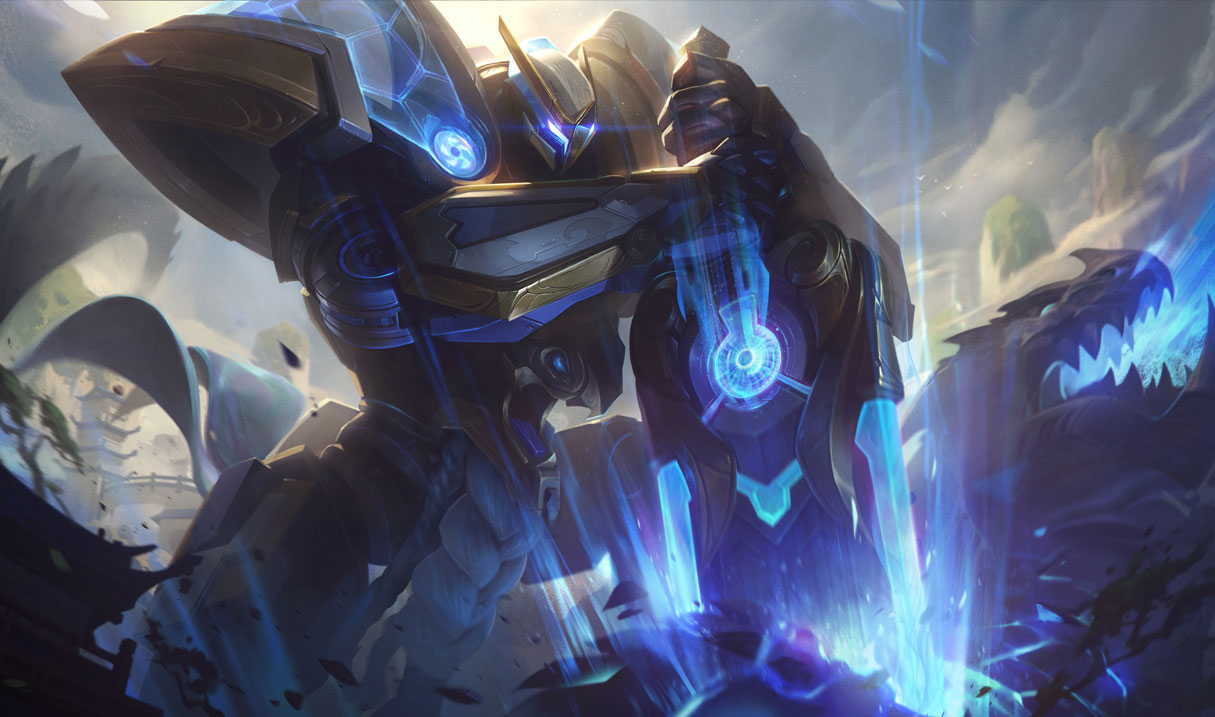 splash art mecha kingdoms garen