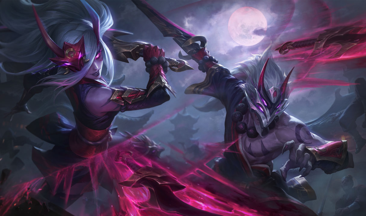 blood moon master yi splash art