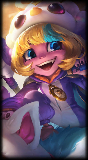 loading screen pengu cosplay tristana